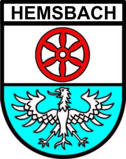 Hemsbach Wappen m.Schrift